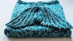 Cómo tejer una manta con cola de sirena en dos agujas #manta #sirena #tutorial #patron #tejidos #DIY #dosagujas #tricot #soywoolly