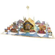 Little Town of Bethlehem Pop-Up Advent Calendar - this Advent calendar features charming biblical illustrations along with scripture passages for each day of Advent. Colorful and detailed pop-ups create an engaging and fun way to countdown to Christmas.