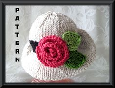 Knitting Pattern for Baby Hat-Children Clothing-Knitted Baby Bonnet Pattern-Hand Knitted BABY HAT PATTERN-Dress Up time. $4.99, via Etsy.