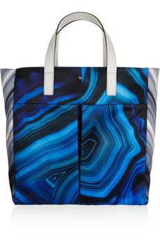Anya Hindmarch Nevis printed satin and leather tote | THE OUTNET