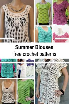 Crochet Summer Tops Free Patterns