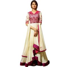 Designer Rich Georgette Anarkali salwar kameez in beautiful style and pattern with embroidery same as shown in the picture..Bottom is santoon material and Dupat