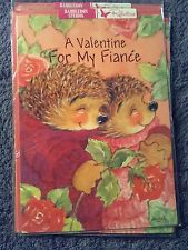 Valentine Card Fiancé Male Hedgehogs Kiss Roses Red Love Hugs Cuddles