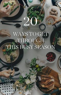 Sanity-Saving Holiday Tips. 20 Ways to get Through This Busy Season! #exhausted
