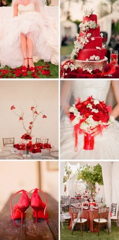 red wedding...hmm never even considered red but I think this is really pretty!