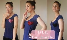 Refashionista: Lace heart cutout tee - Pearls and Scissors