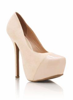 Divas to the runway! cap toe platforms