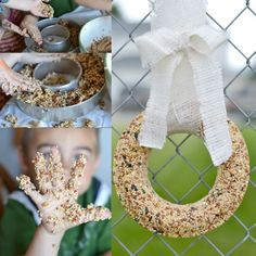This kid made bird seed wreath is perfect to make with the family. Just a few ingredients are needed to make a bird treat. You'll never believe...