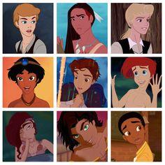 Disney… Princes? Personally I think Cinderella and Esermalda could pull it off ;)