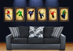 Justice League posters by MaJiKartwork on Etsy, $30.00