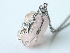 Unicorn Dreams Jewelry on Etsy Unicorn Jewelry, Unicorn Fantasy, Majestic Horse, Treasure Chest, Wire Wrapped Pendant, Wire Wrapping, Rose Quartz, Silver Jewelry, Rocks