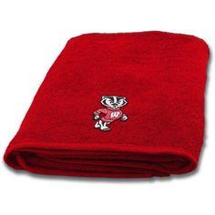Ncaa Applique Bath Towel, Wisconsin, Multicolor