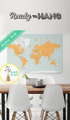Ancient maps large calendar with world maps printed in florence large world map canvas orange blue colors countries gumiabroncs Gallery