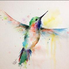 colibri acuarela - Buscar con Google
