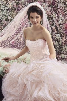Toz Pembe Gelinlik - Powder Pink Wedding Dress by Goldstore