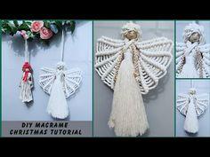 DIY Easy Macrame Christmas Decoration #5, Macrame Angel tutorial by TNARTNCRAFTS - YouTube