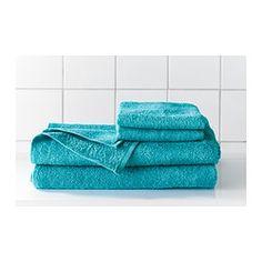 """HÄREN Bath towel blue - 28x55 """" - IKEA"""