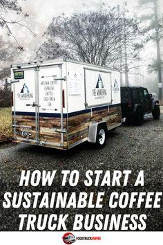 Coffee Van, Espresso Coffee, Coffee Food Truck, Starting A Food Truck, Starting A Coffee Shop, Mobile Coffee Shop, Food Truck Business, Business Ideas, Coffee Trailer