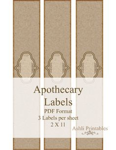 Handmade Soap Labels | Apocathery Soap Labels Horizontally