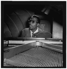 Jazz piano great Thelonious Sphere Monk - Oct. 10, 1917 - 1982    William P. Gottlieb: Portrait of Thelonious Monk, Minton's Playhouse, New York, N.Y., ca. Sept. 1947 (Library of Congress)    Posted at 11:37pm and tagged with: full width,.