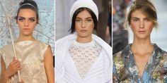 Sobrancelhas marcadas foram algumas das tendências apresentadas nas semanas de moda