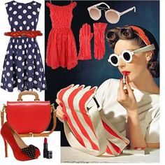 The 1950's accessories made the outfits! Love the iconic look :) #styleicon