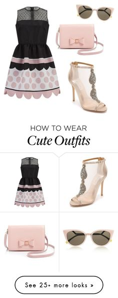 """""""Cute pinkish Outfit"""" by chloejoanvillorente on Polyvore featuring RED Valentino, Fendi, Ted Baker and Badgley Mischka"""