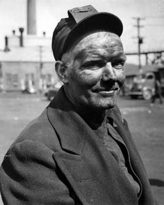 Mining Town Of Nanty Glo, Pa. Portrait of a coal miner during United Mine Workers wildcat strikes & demands for higher wages. | Photographer: Alfred Eisenstaedt | Date taken: April 1943 | Location: Nanty Glo, PA, US | LIFE Archive - Hosted by Google
