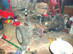 Erster Versuch: Ford Taunus Vorderachse - inzwischen verworfen