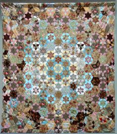Replica Frederica, as the coverlet is affectionately known, now on display at the Sydney Quilt Show.