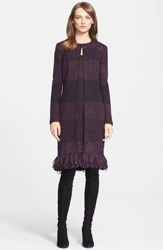 St. John Collection Banded Ribbon Knit Topper available at #Nordstrom - I am loving the Fall St John's collection! This topper is simple, feminine and timeless.
