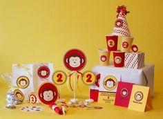 1st birthday ideas- printable monkey party