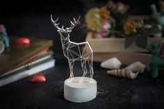 iLLuminite by SturlesiDesign - Deer Set, large deer concrete, small deer concrete