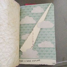 sammlovesit:  Wreck This Journal - Make A Paper Airplane