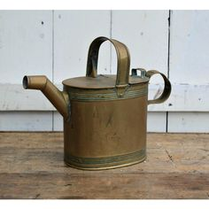 Antique Copper Watering Can English Can Watering Antique watering can... ($73) ❤ liked on Polyvore featuring home, outdoors and garden tools