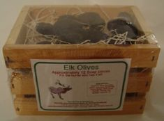 """Funny (but useful) Gag Gifts - """"Elk Olives"""" made out of handcrafted cold process soap. Looks very realistic - like elk poop, but much more fragrant and useful. Phoenix Homes, Cold Process Soap, Gag Gifts, Elk, Olives, Soaps, Making Out, Funny, Moose"""