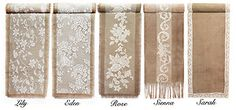 country table centerpieces   VINTAGE / Rustic COUNTRY Wedding Hessian Burlap & Lace TABLE RUNNERS