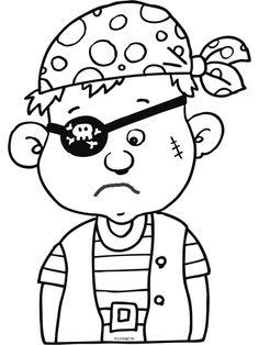 Kleurplaat Piraat http://www.pinterest.com/martabatalla/illustraci%C3%B3-figura-humana/