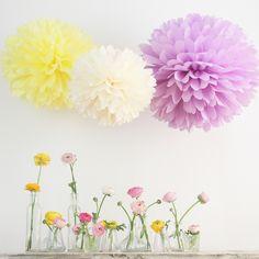 Pompom Manufaktur 200 mixed size tissue pompoms your colors by decopompoms