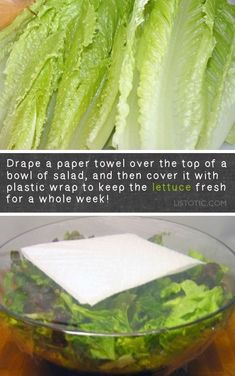 of the BEST kitchen tips and tricks cooking and food hacks How to keep lettuce fresh in the fridge for longer Lots of kitchen and food tips and tricks here Organization a. Chef Gourmet, Clean Eating, Healthy Eating, Healthy Cooking, Real Cooking, Cooking Recipes, Healthy Recipes, Cooking Hacks, Cooking Rice