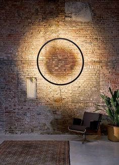 The Framed Wall Circle Lamp by Jacco Maris, is a circle made of hot rolled steel. The lighting system is integrated in the steel frame. Modern Wall Lights, Modern Lighting, Lighting Design, Circle Light, Frame Light, Low Key Lighting, Lighting System, Blitz Design, Steel Framing