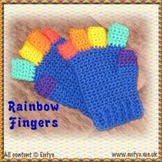 Crochet fingerless gloves - child and ladies sizes - instructions for full fingers also included - remember for the fall season.