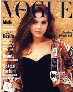 Film and the covers of Vogue Paris: Ornella Muti on the November 1989 cover of Vogue Paris