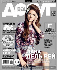 Lana Del Rey featured on cover of Russian magazine, VashDosug (June 2013)