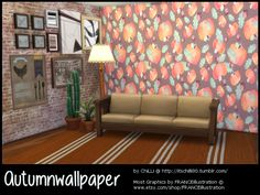 Sims 4 CC's - The Best: Autumn Wallpapers by CiLLis Sims