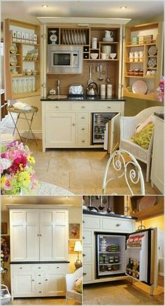Small kitchen in cabinet