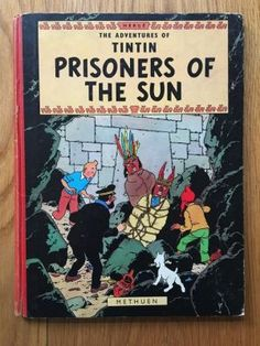 The Adventures of Tintin - Prisoners of the Sun - Herge. Setanta Books are passionate about classic literature. All cover images we Pin here are from our stock of rare & collectable books, including shelves upon shelves of classic Penguin, Pan & Puffin paperbacks from the 1930s right up to the 1990s, photography & signed 1st editions. Check out detailed photos at www.setantabooks.co.uk. Fast delivery worldwide from from Richmond, Surrey. Order confidently: 30-day no-quibble refunds!