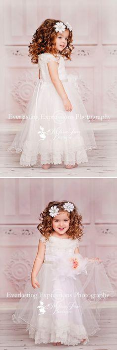 Pure Sweet Angelic Flower Girl Dress