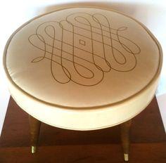 Mid Century  Modern Ottoman Footstool  Retro by TuleGroveSales, $44.00