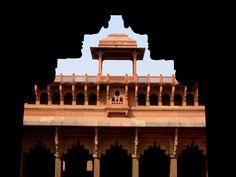 INTERIOR DEL FUERTE ROJO Agra, Taj Mahal, Strong, Red, Interiors